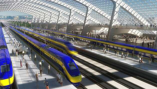 Conceptual animation of a generic high speed rail station. Photo: Nc3d, Courtesy To The Chronicle