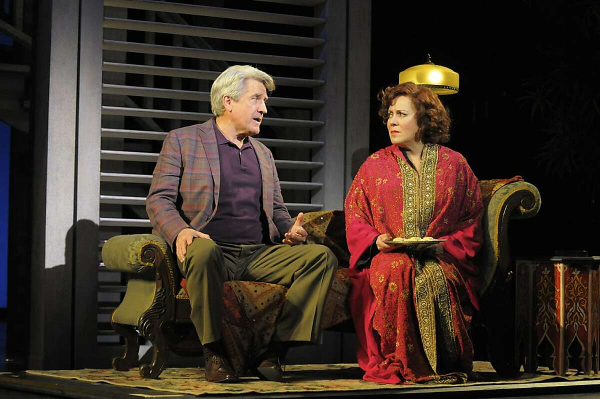 EXCLUSIVE to sfchron Tales_5_print_chronicle.jpg: Edgar Halcyon (Richard Poe) starts to fall in love with Anna Madrigal (Judy Kaye). Photo by Kevin Berne.