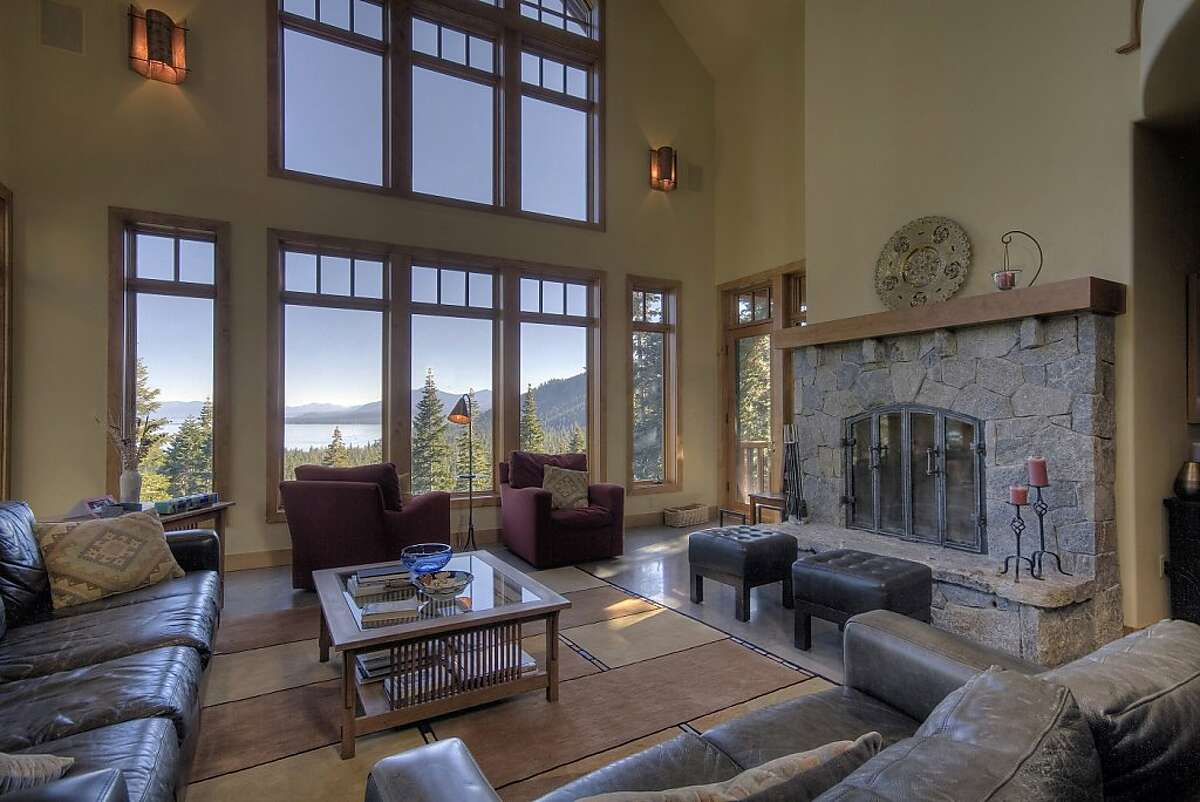 This is the living room at the getaway home in Lake Tahoe.