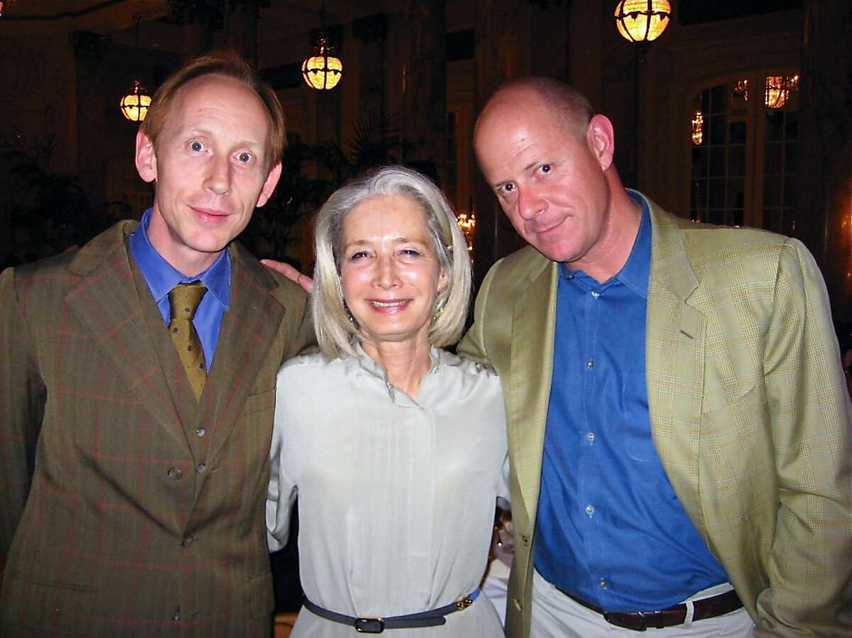 Georges Matisse (left) with Mimi Haas and his brother, Michael Matisse at the Palace Hotel. May 2011. By Catherine Bigelow.