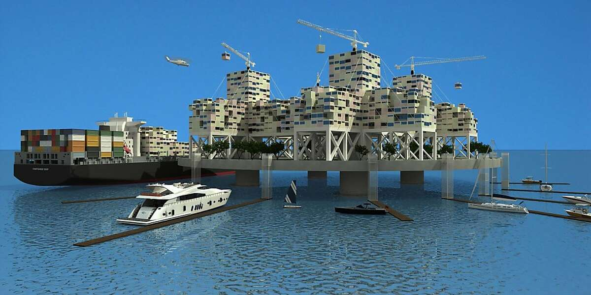 Patri Friedman is one of the principal founders of a new innovative plan to build a floating city off the coast of Marin by 2013. This artist rendering is one of Friedman's favorite after he and his team help a design contest that attracted over fifty designs of a radical different floating city. Wednesday May 25, 2011