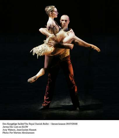 "The Danish Roayl Ballet's  Amy Watson and Jean-Lucien Massot perform ""Lost on Slow."" Photo: Marten Abrahamsen"