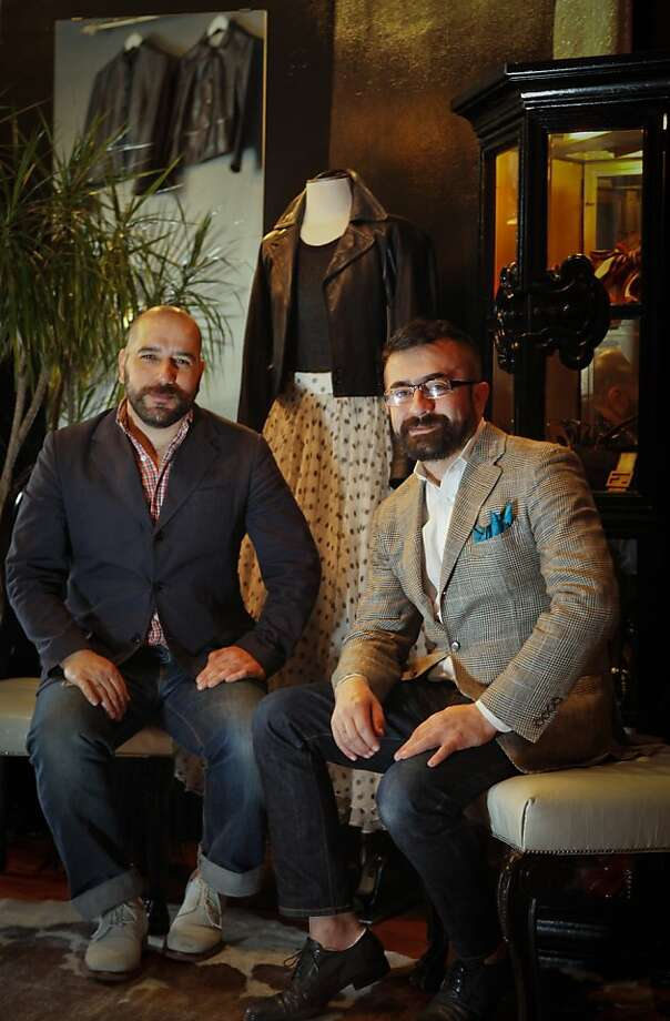 Gabiel Yanez, left, and Miguel Lopez are seen on Friday, April 15, 2011 in one of their San Francisco, Calif., stores, Sui Generis Illa Boutique. Photo: Russell Yip, The Chronicle