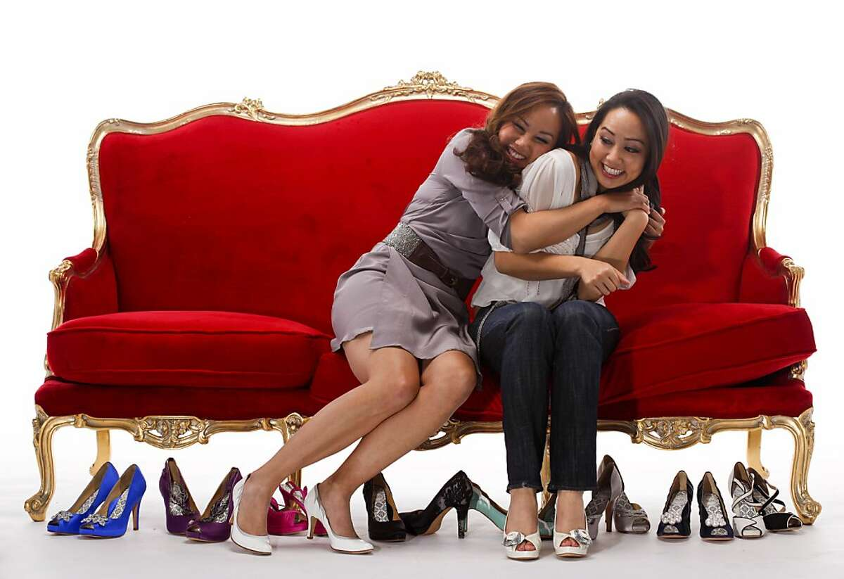 Emily, left, and Jessica Leung, seen on Thursday, May 19, 2011 in San Francisco, Calif., created Hey Lady, a shoe line with 3 to 4-inch heels.