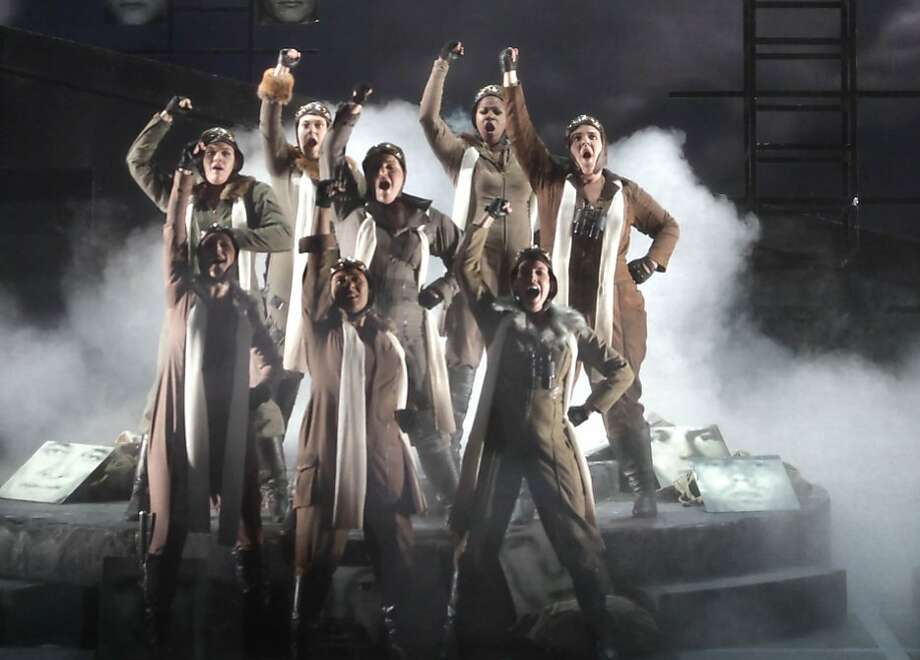 The Valkyries are seen during the opening of Act III  during a final dress rehearsal of Wagner's Die Walkure at the War Memorial Opera House in San Francisco, Calif. on Sunday June 6, 2010. Photo: Lea Suzuki, The Chronicle