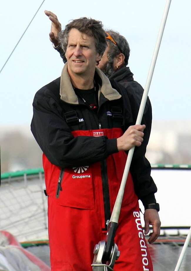 Rolex Yachtsman of the Year, Palo Alto sailor and sports TV innovator Stan Honey, aboard Groupama 3 completing fastest non-stop sailing circumnavigation in history. Photo: Claude Breton