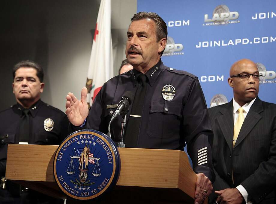 Los Angeles Police Chief Charlie Beck declines to discuss details of a witness lineup involving suspect Giovanni Ramirez in connection with the March 31 beating of San Francisco Giants fan Bryan Stow at Dodger Stadium during a news conference at police headquarters Thursday, May 26, 2011, in Los Angeles. Beck said Ramirez, arrested May 22, is still the primary suspect in the case. Photo: Jason Redmond, AP
