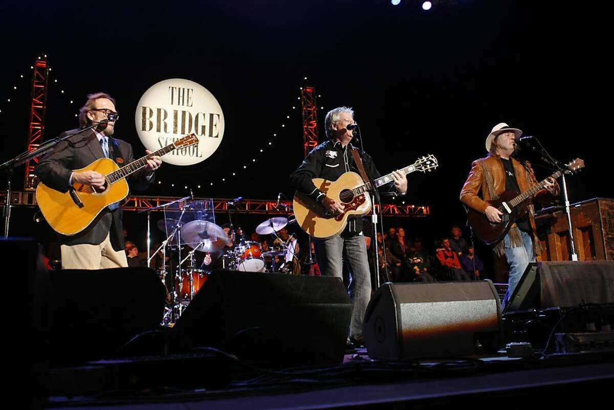 Buffalo Springfield performs during Neil Young's annual Bridge School Benefit concert at Shoreline Amphitheatre Saturday, October 23, 2010, Mountain View, Calif.