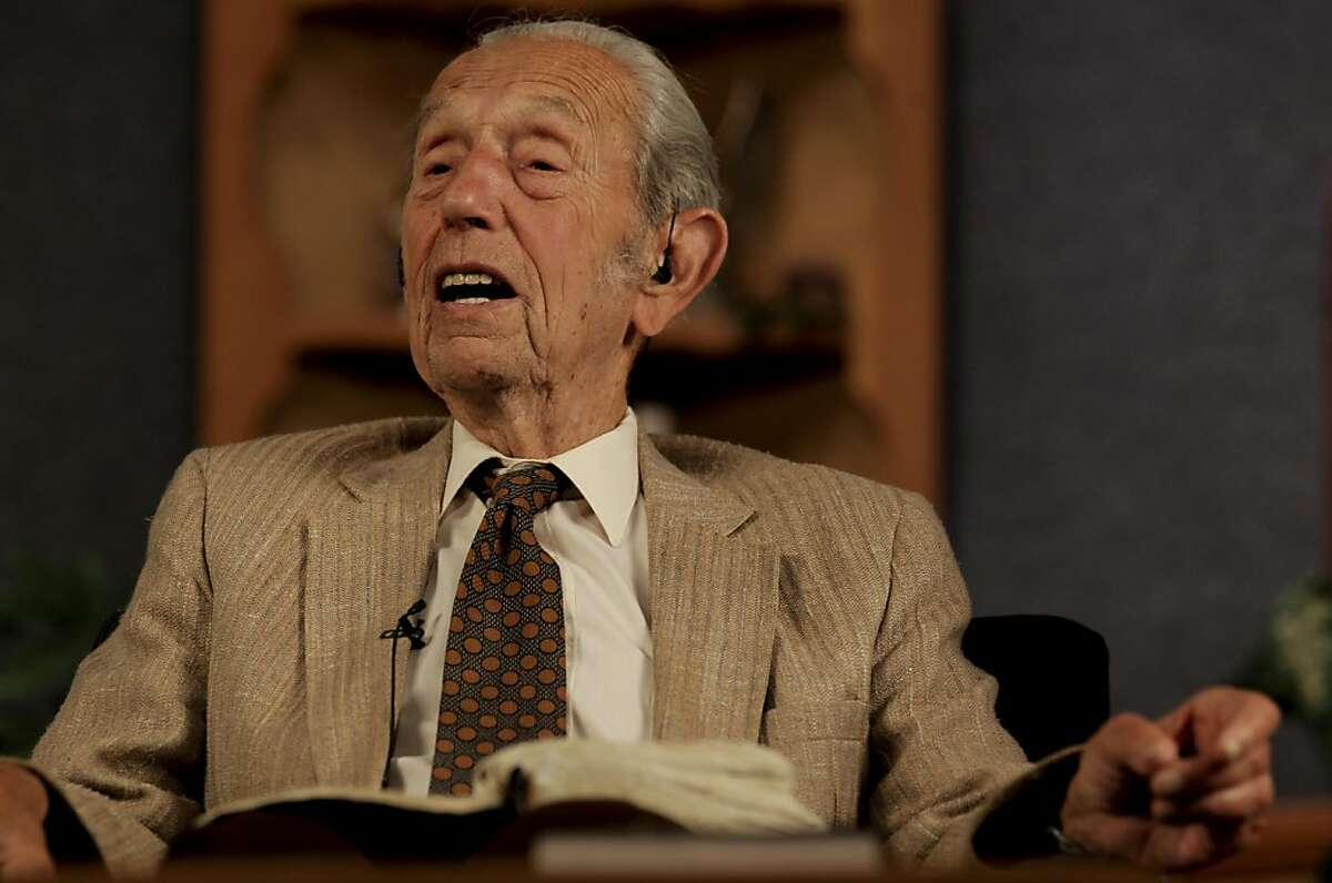 Harold Camping of Family Radio in Oakland, Ca. on Saturday May 14, 2011, talks with callers during his nightly radio program Open Forum. Camping has been saying that the world will end May 21, 2011.