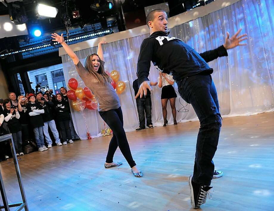 "NEW YORK - NOVEMBER 24:  ""Dancing with the Stars"" contestant Bristol Palin and dancer Mark Ballas, contestants from Season 11 of the ""Dancing with the Stars"" competition dance during a visit to ""Good Morning America"" at ABC Studios on November 24, 2010 inNew York City. Photo: Jemal Countess, Getty Images"