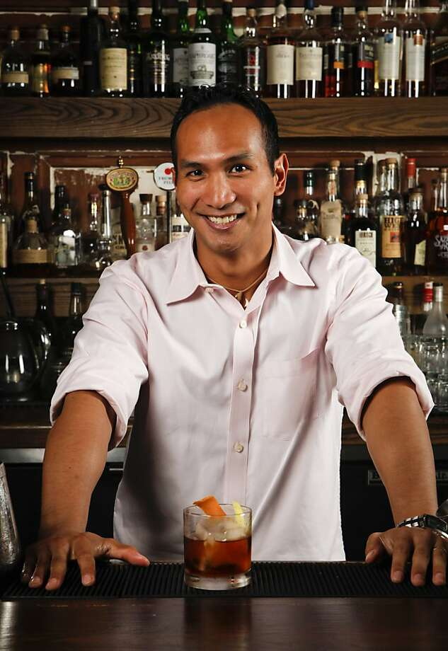 Chronicle Bar Star, Kevin Dietrich of Burritt Room, mixes a Kentucky Stinger at Burritt Room in San Francisco, Calif., on Tuesday, May 10, 2011. Photo: Russell Yip, The Chronicle
