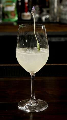 "A ""Lavanda 2.0"" by Chronicle Bar Star Carlo Splendorini of Michael Mina is seen in Burritt Room in San Francisco, Calif. on Tuesday, May 10, 2011. Photo: Russell Yip, The Chronicle"