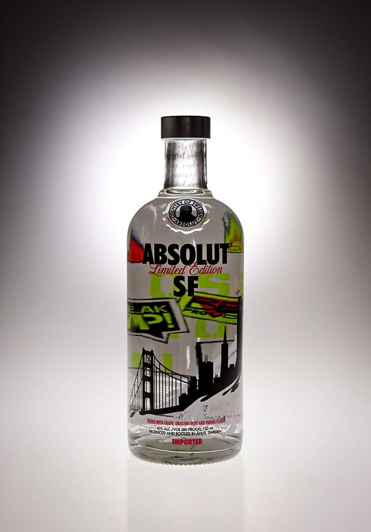 A bottle of Absolut SF is seen on Tuesday, May 17, 2011 in San Francisco, Calif.