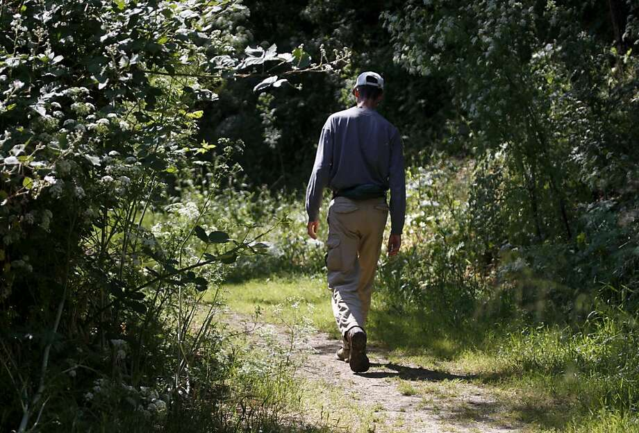 A hiker explores the Edwards Creek Trail at Crockett Hills Regional Park in Crockett, Calif. on Thursday, May 19, 2011. Photo: Paul Chinn, The Chronicle