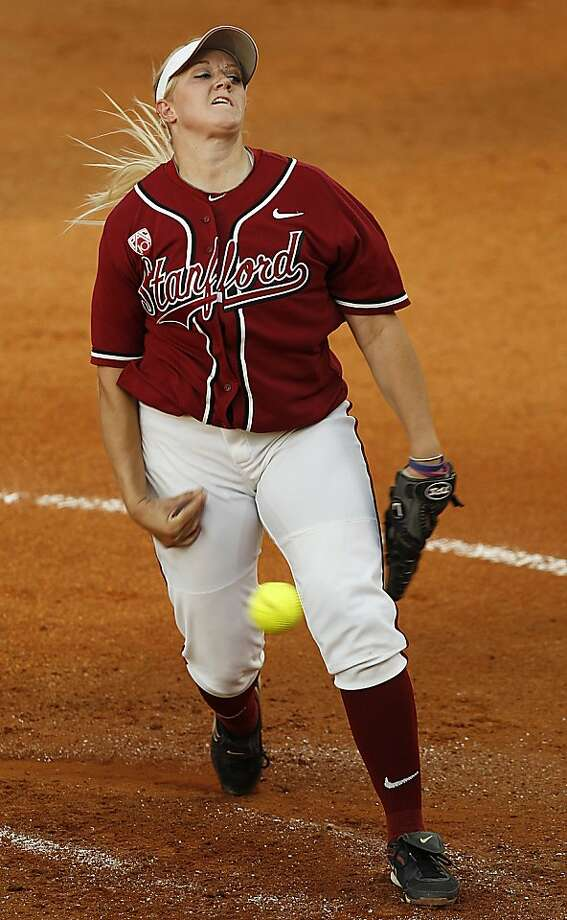 Stanford's Teagan Gerhart (15) pitches against Alabama in their regional softball tournament game, Thursday, May 26, 2011, in Tuscaloosa, Ala. Photo: Butch Dill, Associated Press