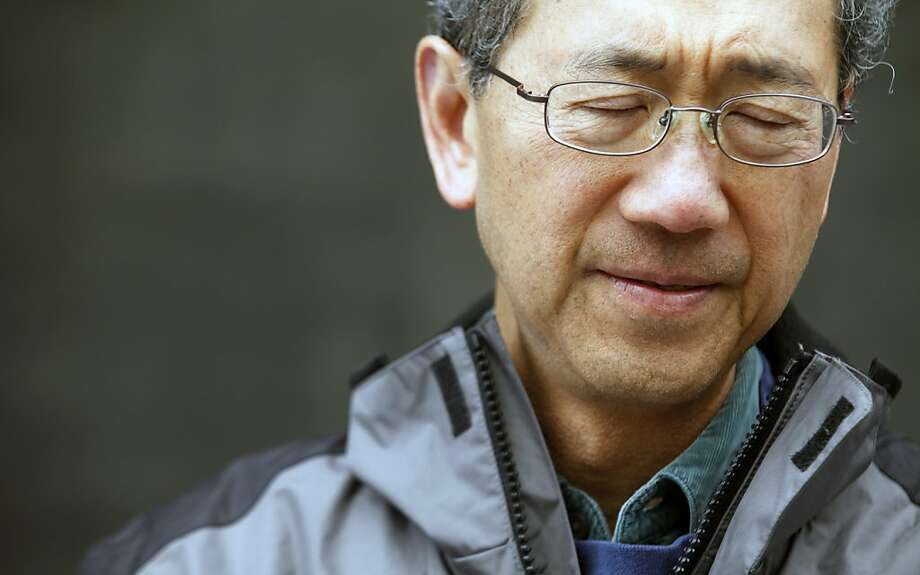 Andy Au, from Burlingame, Calif., joined other sufferers with chronic fatigue syndrome to protest the lack of federal funding in front of the U.S. Department of Health and Human Services in San Francisco, Wednesday, May 25, 2011. Photo: Lance Iversen, The Chronicle