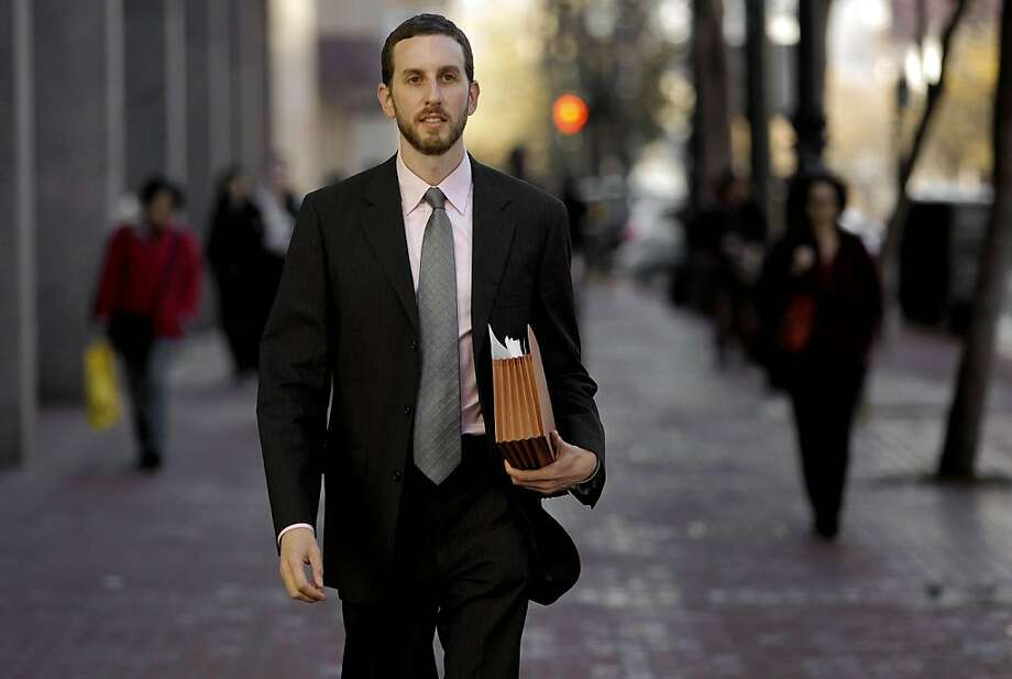 Newly elected San Francisco supervisor Scott Wiener, of District 8, on Tuesday Dec. 7, 2010, walking down Market Street. Photo: Michael Macor, The Chronicle