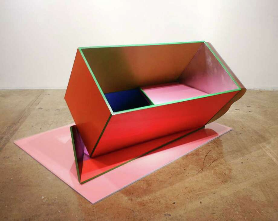 "Phillip King's 2010 ""Bottom Pink"" is featured in the survey of 40 years of the renowned English sculptor's work at the Blue Star Contemporary Art Space. Photo: Photo By Steve Bennett"