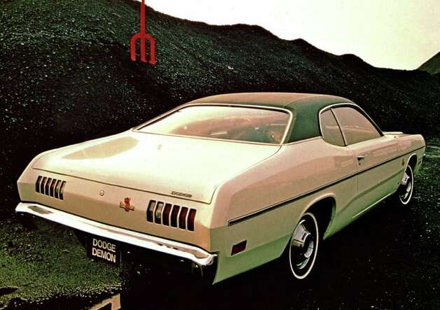 One of the most unusual Dart models was this 1971 Demon, made near the end of the run of the brand, which was sold by Dodge from 1960-76. COURTESY OF CHRYSLER GROUP LLC Photo: Chrysler Group LLC., COURTESY OF CHRYSLER GROUP LLC