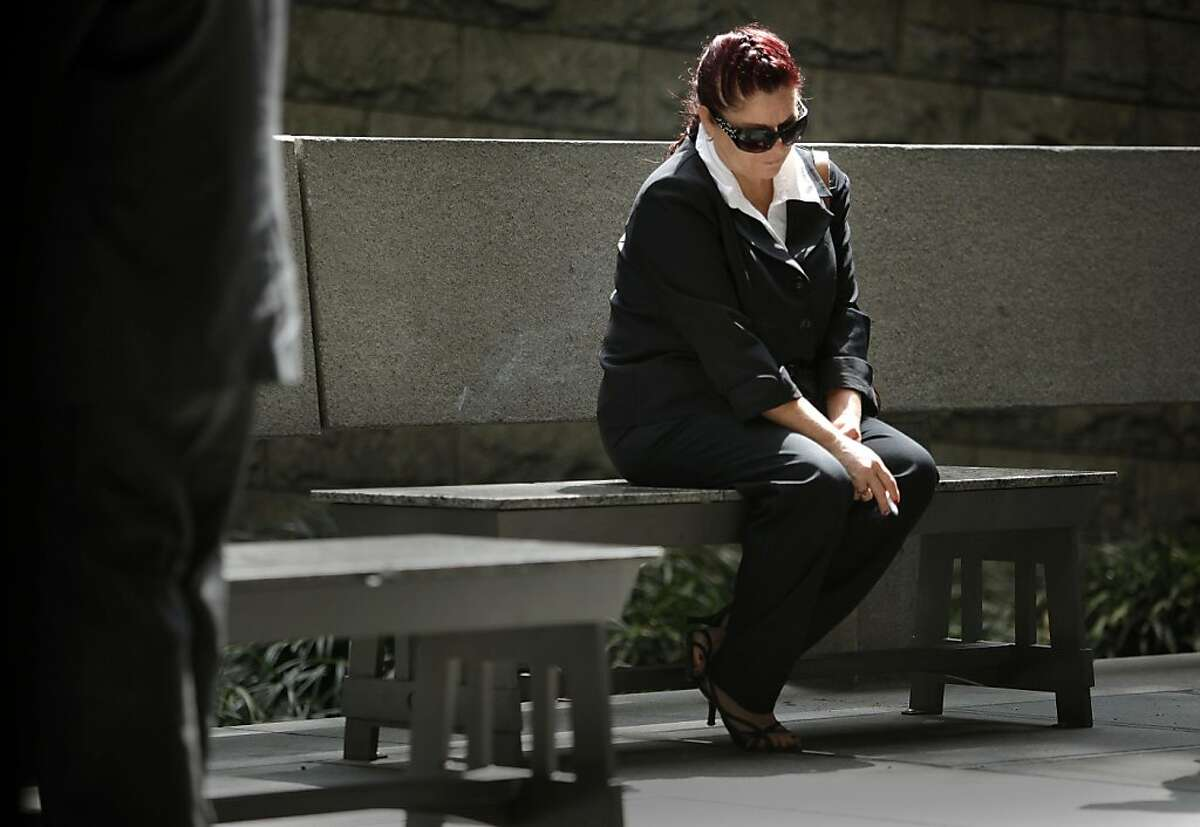 The mother of Giovanni Ramirez, Soledad Gonzalez, takes a break outside the Los Angeles Superior Court in downtown Los Angeles on Tuesday, May 24, 2011, as she hoped for an arraignment for her son who is the main suspect in the beating of Giants fan Bryan Stow. Stow was brutally beaten in a parking lot at Dodgers Stadium on the night of the season opener after the San Francisco Giants played the Los Angeles Dodgers.