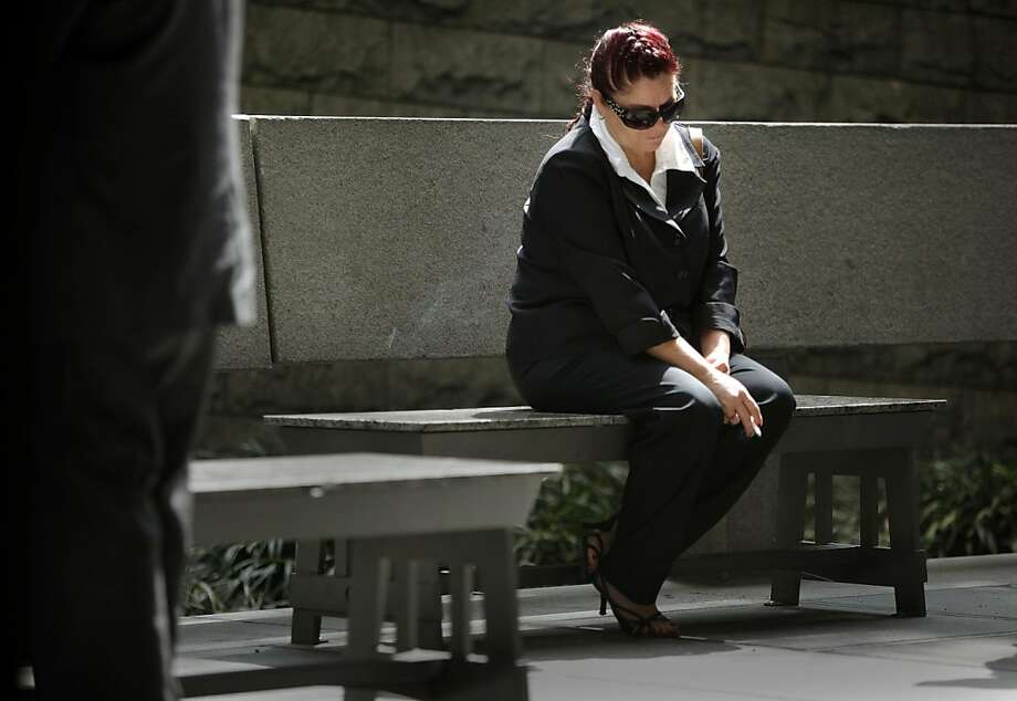 The mother of  Giovanni Ramirez,  Soledad Gonzalez, takes a break outside the Los Angeles Superior Court in downtown Los Angeles on Tuesday, May 24, 2011, as she hoped for an arraignment for her son who is the main suspect in the beating of Giants fan Bryan Stow. Stow was brutally beaten in a parking lot at Dodgers Stadium on the night of the season opener after the San Francisco Giants played the Los Angeles Dodgers. Photo: Michael Macor, The Chronicle
