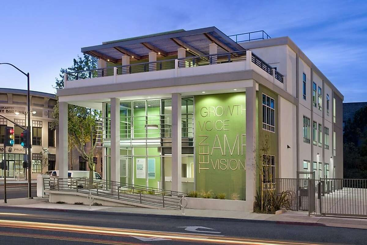 The new YMCA - PG&E Teen Center in downtown Berkeley reuses the shell of a bill collection center from 1964. The architect for the conversion is Noll & Tam.