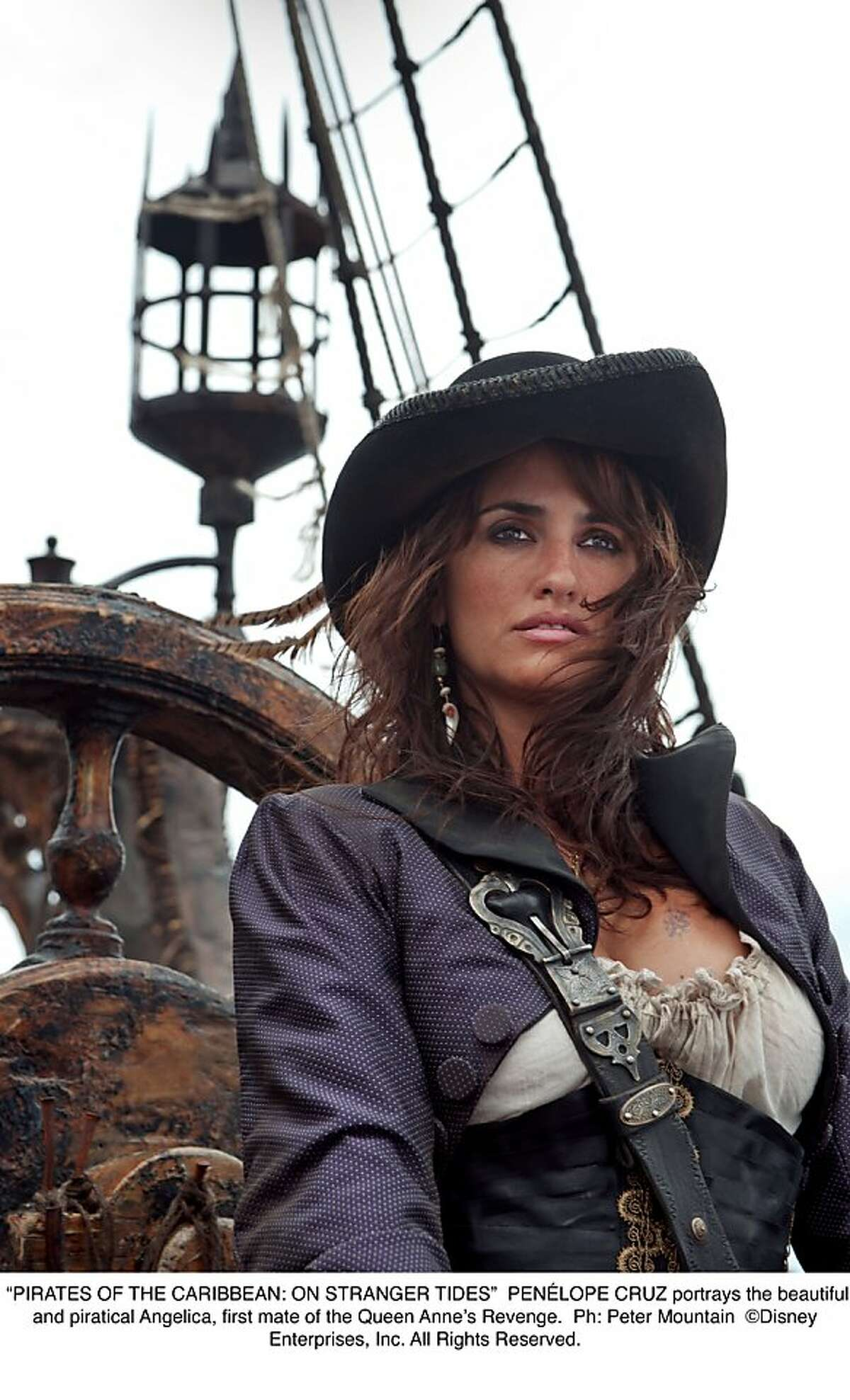 PEN?LOPE CRUZ portrays the beautiful and piratical Angelica, first mate of the Queen Anne's Revenge.