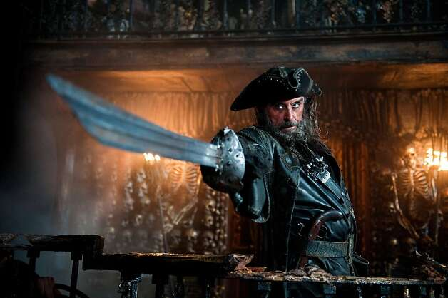 "In this film publicity image released by Disney, Ian McShane portrays Blackbeard in a scene from, ""Pirates of the Caribbean: On Stranger Tides."" Photo: Peter Mountain, AP"