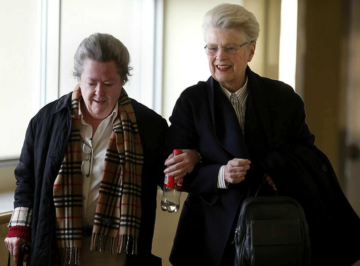 Louise Renne (right) helped Catherine O'Gara down a corridor at Laguna Honda. Louise Renne, former San Francisco supervisor and city attorney, has been instrumental in the rebuilding of Laguna Honda Hospital.Louise Renne (right) helped Catherine O'Gara down a corridor at Laguna Honda. Louise Renne, former San Francisco supervisor and city attorney, has been instrumental in the rebuilding of Laguna Honda Hospital.