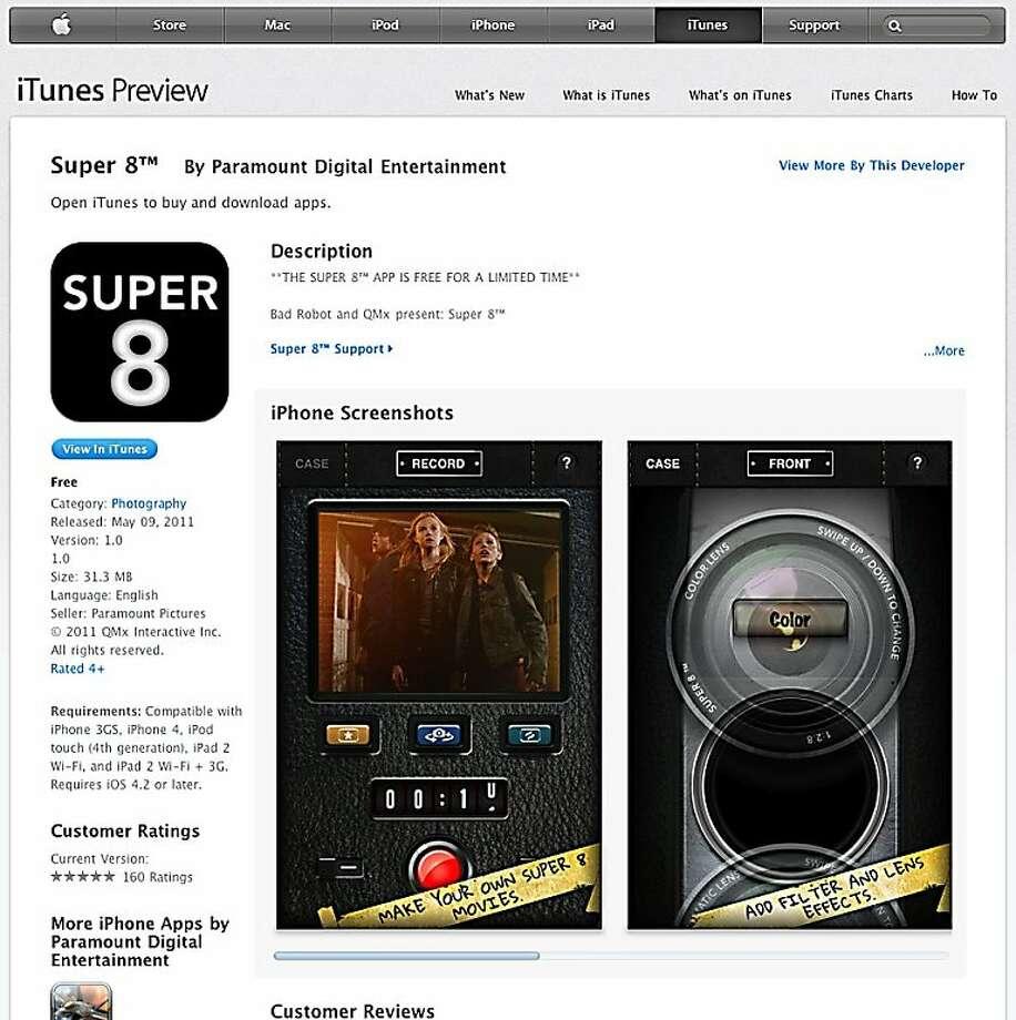 Screenshot from super8.com a movie editing app for WOW23 business column. Photo: Super8.com