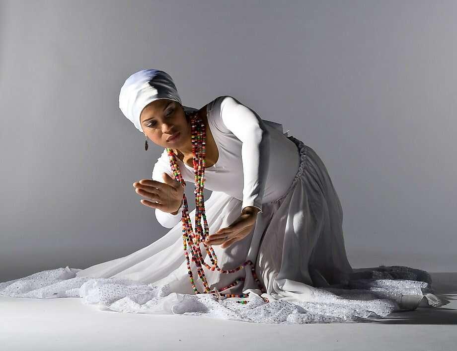 Djenane Saint Juste of Afoutayi Dance Company Photo: Austin Forbord