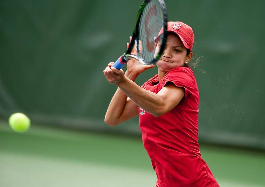 Stanford tennis player Hilary Barte in a match on May 15, 2011. Photo: Don Feria, Stanfordphoto.com