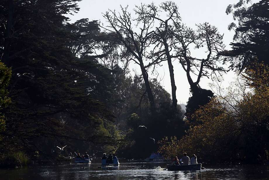 Stow Lake as row and paddle boats are being used the in at Golden Gate Park  in San Francisco, Calif., on Monday, January 17, 2011. Photo: Liz Hafalia, The Chronicle