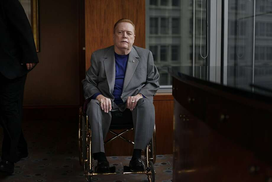 Hustler publisher, Larry Flynt sits for a portrait at the Four Seasons Hotel on Friday May 13, 2011 in San Francisco, Calif. Photo: Mike Kepka, The Chronicle