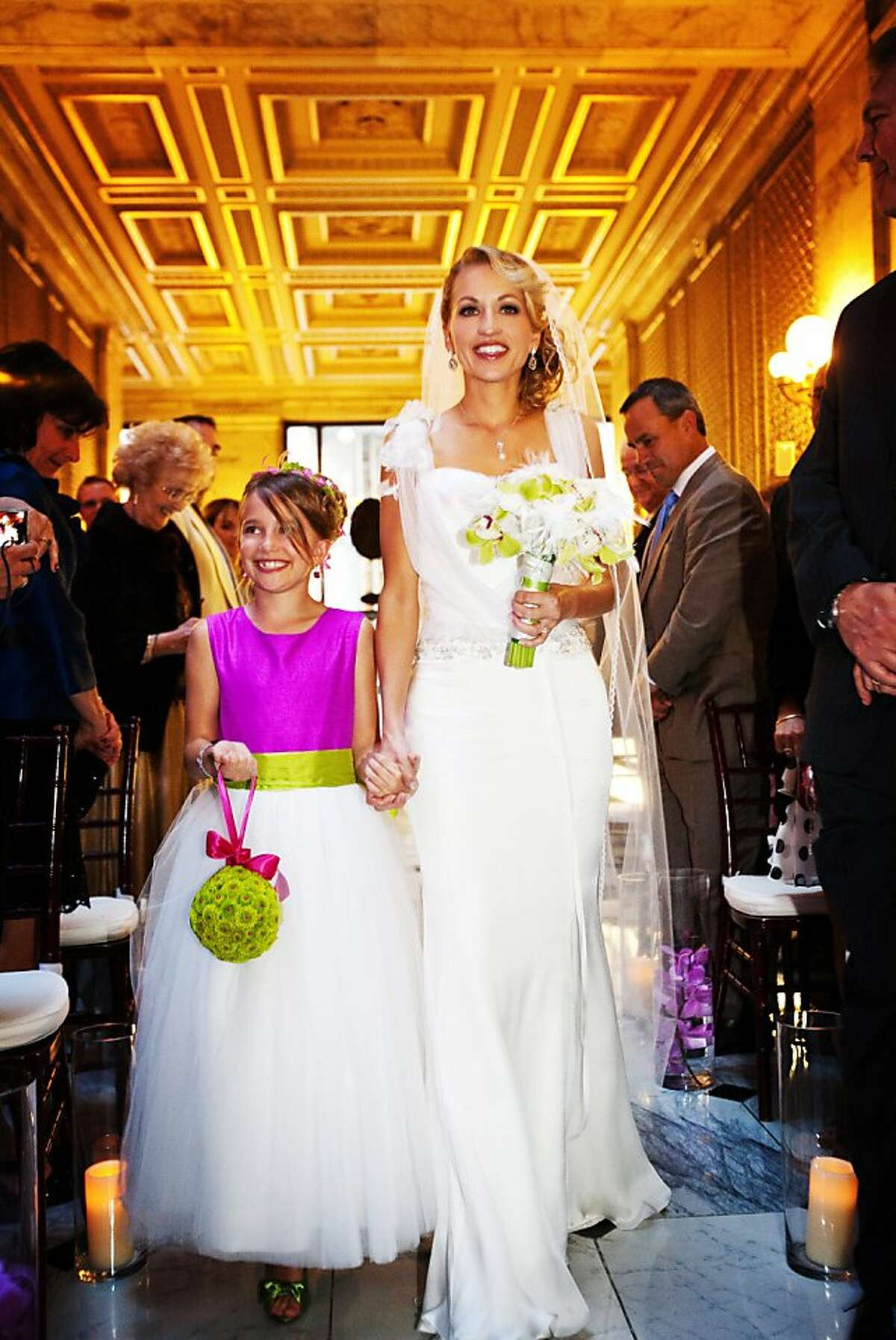 Images from the wedding of Andrea Boye and Scott Sieczkarek at the Julian Morgan Ballroom, 2011.