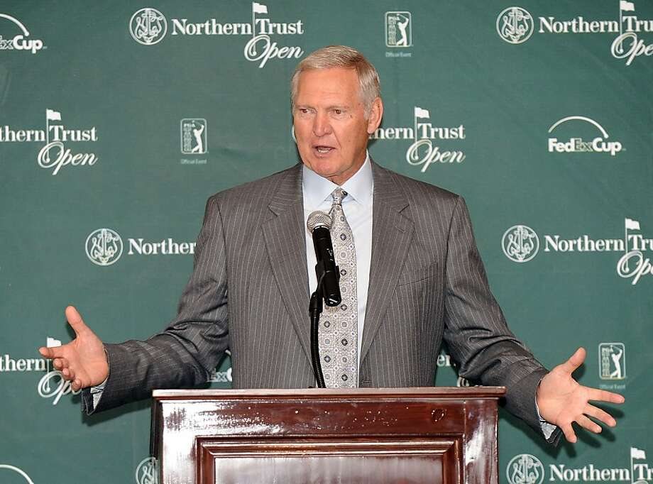 LOS ANGELES, CA - JANUARY 18:  Jerry West speaks to the media during a Northern Trust Press Conference at The Riviera Country Club on January 18, 2010 in Los Angeles, California.  (Photo by Harry How/Getty Images) Photo: Harry How, Getty Images