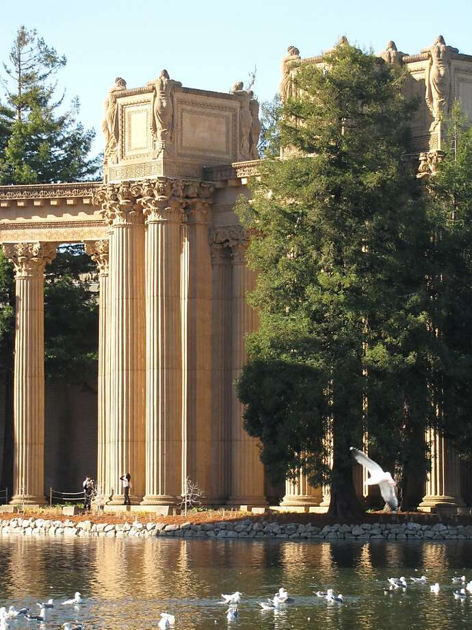Bernard Maybeck's Palace of Fine Arts is one of the Bay Area's most romantic buildings. The surprising element is, how up, it has a rugged power as well. Photo: John King