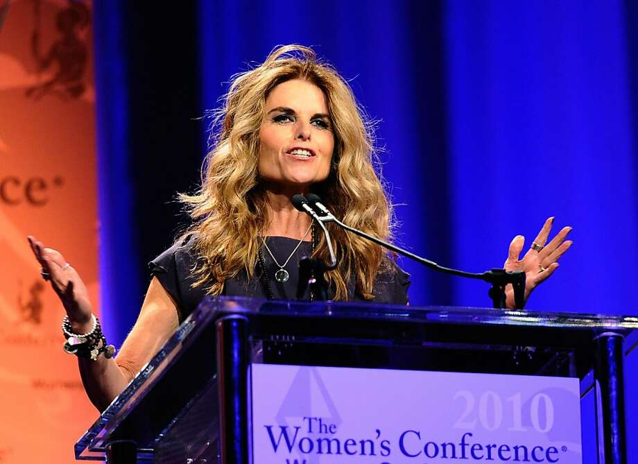LONG BEACH, CA - OCTOBER 26:  California first lady Maria Shriver speaks during her annual Women's Conference 2010 on October 26, 2010 at the Long Beach Convention Center in Long Beach, California. Attendees to the conference include Gov. Arnold Schwarzenegger and candidates for California Governor Republican Meg Whitman and Democrat Jerry Brown.  (Photo by Kevork Djansezian/Getty Images) Photo: Kevork Djansezian, Getty Images