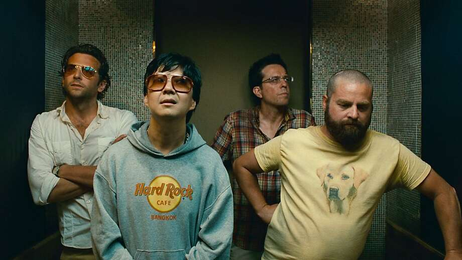 Bradley Cooper, Ken Jeong, Ed Helm and Zach Galifianakis in The Hangover Part 2 Photo: Warner Bros.