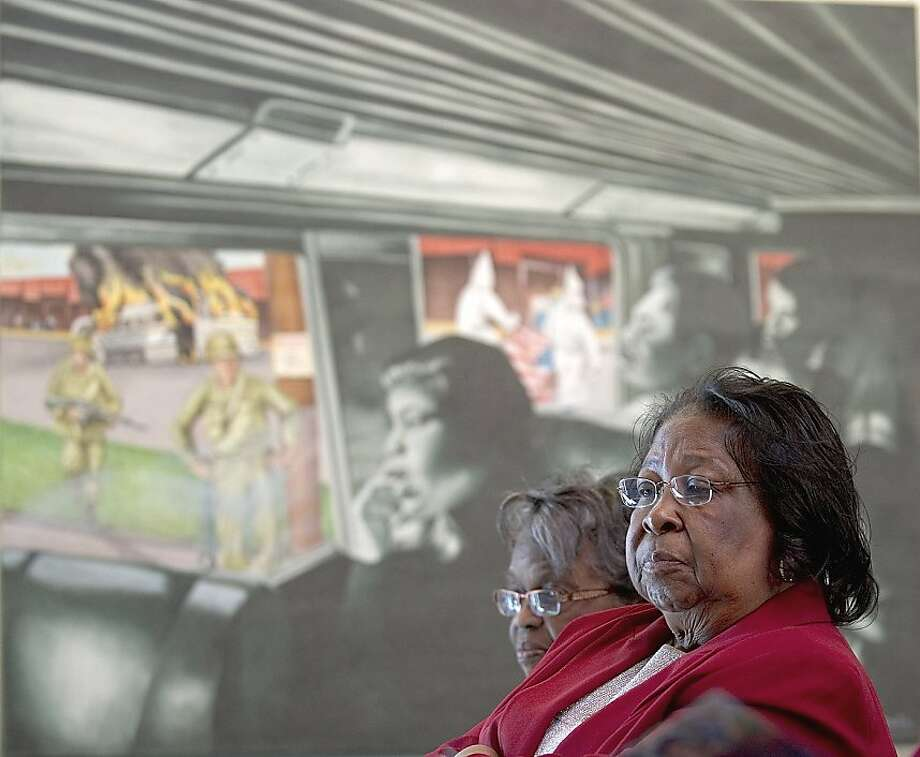"An art exhibit based on the Freedom Rides, ""No Crystal Stair: A Climb to Freedom,""runs through May, 2011, at the National Center for the study of Civil Rights and African-American Culture at Alabama State University, Montgomery, Ala.  Credit: David Campbell/ASU Photo: David Campbell, Alabama State University"