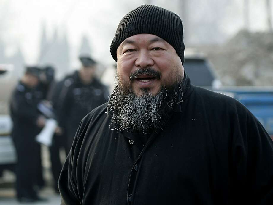 FILE - In this Nov. 17, 2010 file photo, artist Ai Weiwei arrives at the Wenyuhe court to support fellow artist Wu Yuren during his trial in Beijing. Ai has been allowed his first family visit after more than a month in detention, his sister said Monday,May 16, 2011 in a case that the U.S. and other governments have criticized as a sign of China's deteriorating human rights. Photo: Andy Wong, AP
