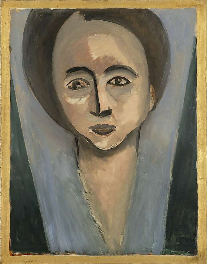 """Sarah Stein"" (1916) oil on canvas by Henri Matisse   28 1/2 in. x 22 1/4 in. Photo: SFMOMA"