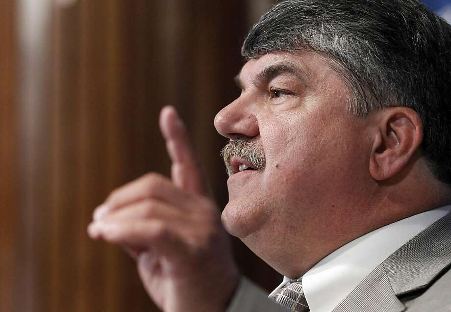 AFL-CIO President Richard Trumka speaks during a luncheon at the National Press Club Friday, May 20, 2011 in Washington. Photo: Alex Brandon, AP
