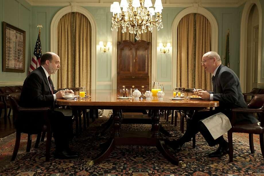 TOO BIG TO FAIL: Paul Giamatti, William Hurt. Photo: Macall Polay, HBO