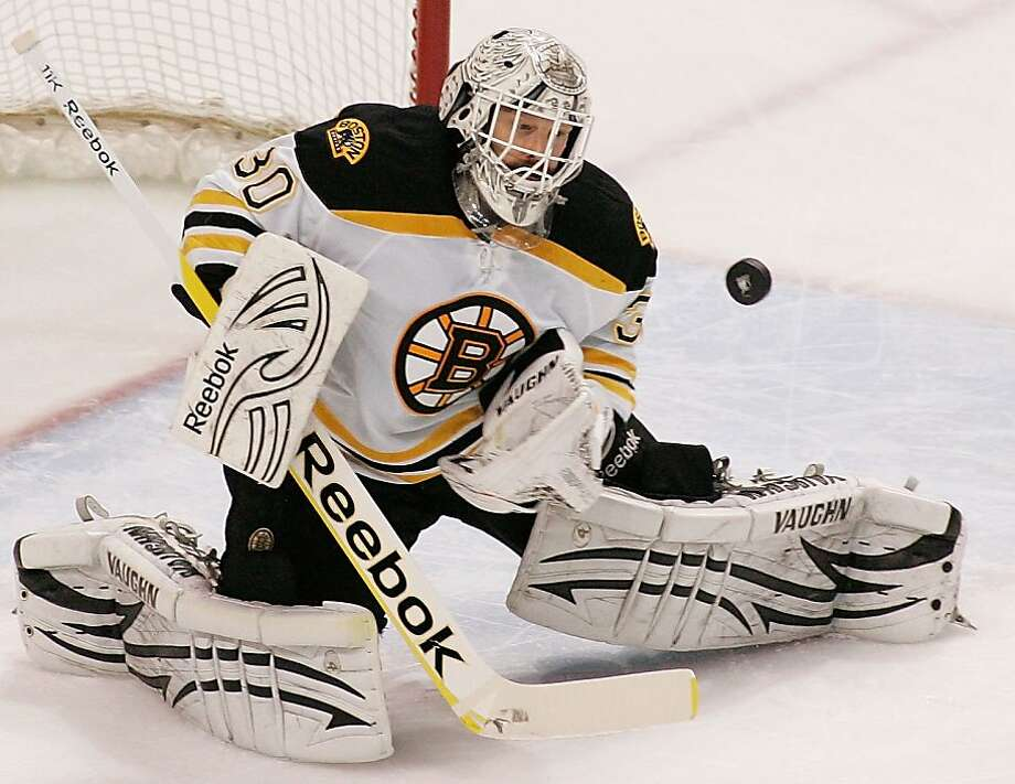 TAMPA, FL - MAY 19:  Tim Thomas #30 of the Boston Bruins makes a save against the Tampa Bay Lightning in Game Three of the Eastern Conference Finals during the 2011 NHL Stanley Cup Playoffs at St Pete Times Forum on May 19, 2011 in Tampa, Florida. Photo: Justin K. Aller, Getty Images