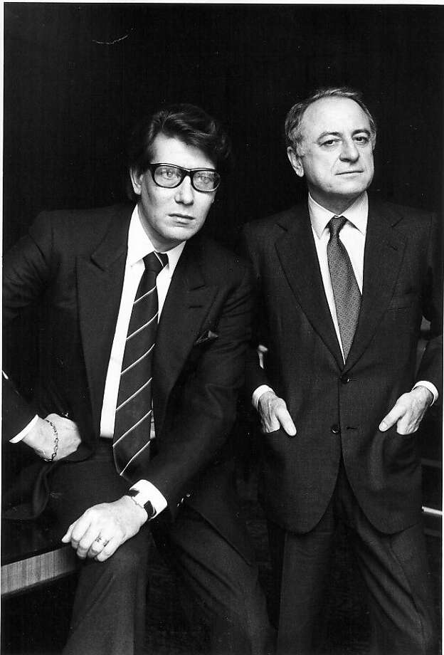 """Yves Saint Laurent and Pierre Berge in """"L'amour Fou,"""" a documentary by Pierre Thoretton. Photo: IFC Films"""