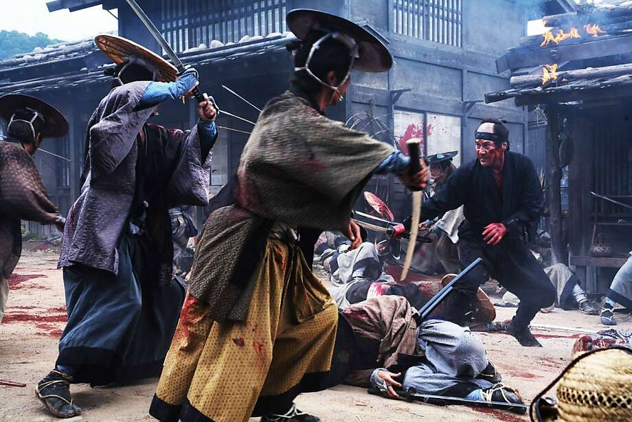 "Koji Yakusho (right) faces opposition in Takashi Miike's ""13 ASSASSINS."" Photo: Courtesy Of Magnet Releasing"