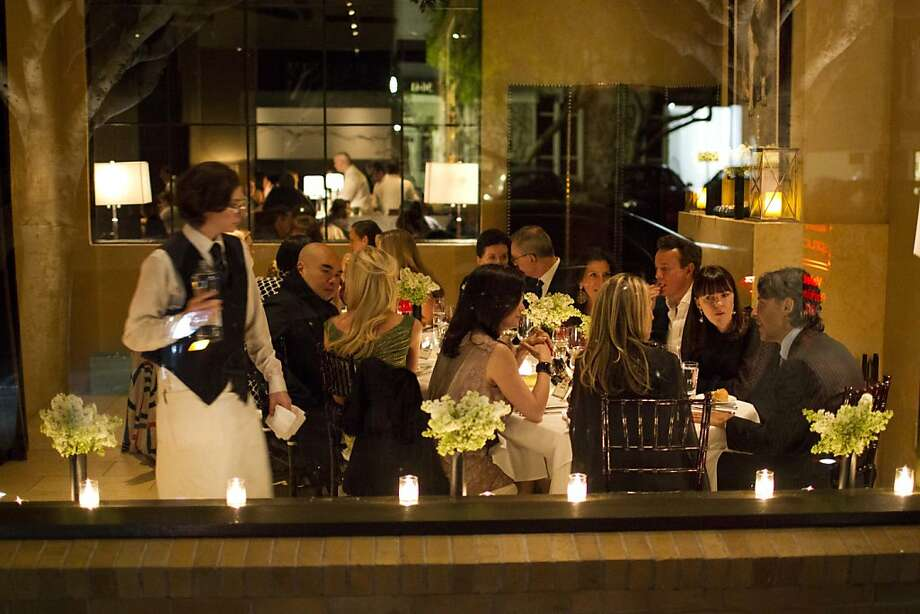 A dinner held at Spruce in honor of designer Andrew Gn. Photo: Drew Altizer