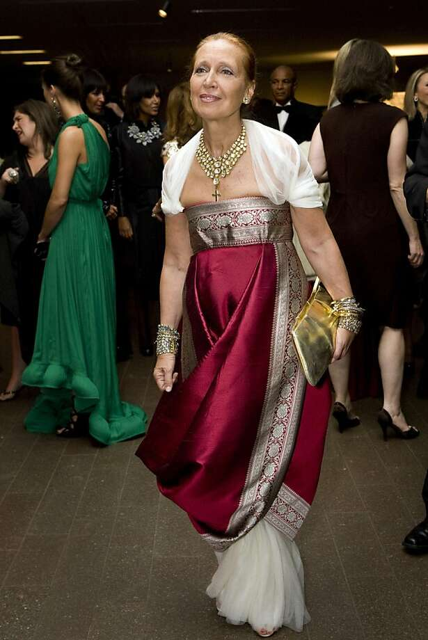 Danielle Steel attends the Yves Saint Laurent Opening Gala at the de Young Museum wearing a gown by Alexander McQueen in San Francisco, Calif., on Thursday, October 30, 2008. Photo: Laura Morton, Special To The Chronicle