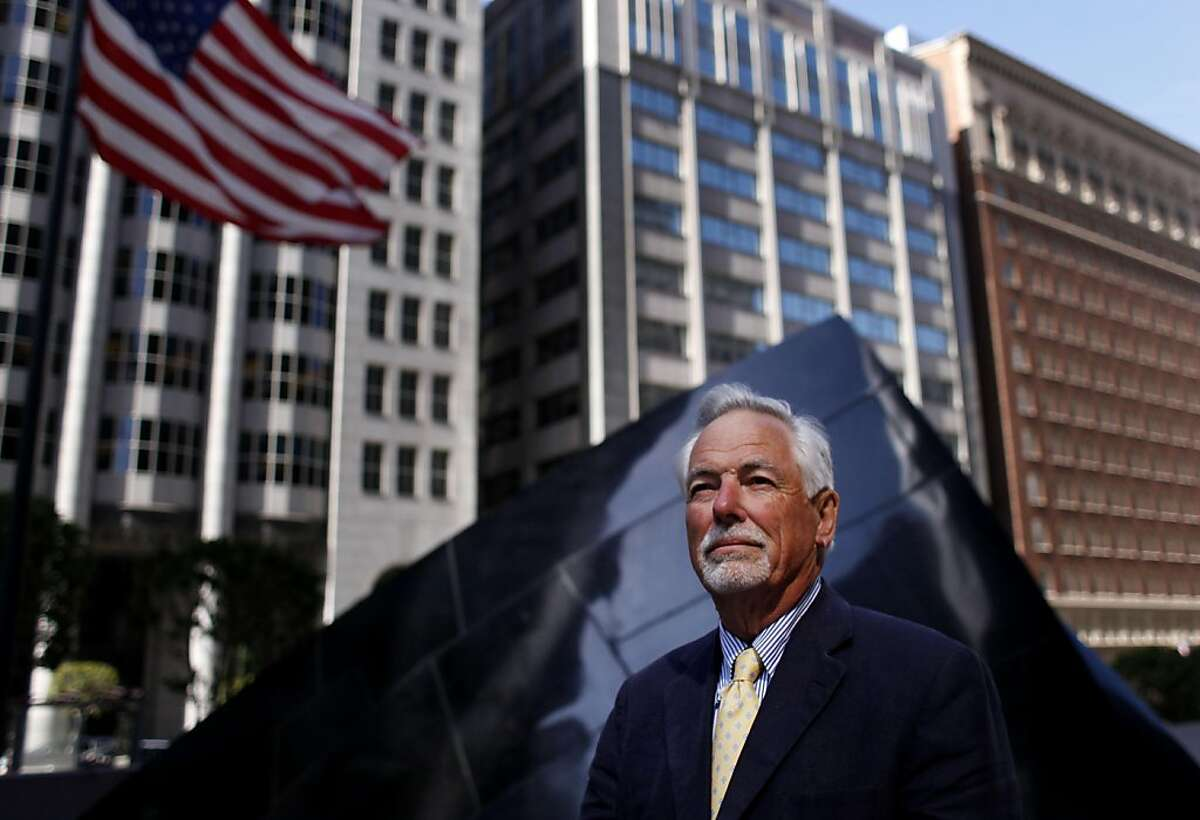 Mark Buell, head of the America's Cup Organizing Committee and the Rec and Park Commission and The Golden Gate National Parks Conservancy, stands for a portrait in front of the Banker's Heart in financial district on Friday May 13, 2011 in San Francisco, Calif. Mark Buell, head of the America's Cup Organizing Committee and the Rec and Park Commission and The Golden Gate National Parks Conservancy, stands for a portrait in front of the Banker's Heart in financial district on Friday May 13, 2011 in San Francisco, Calif.